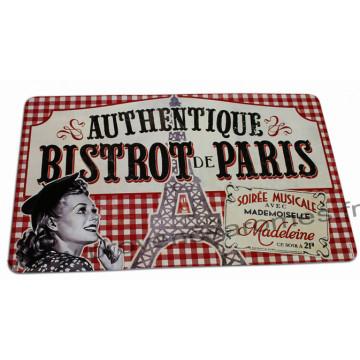 """set de table """" Bistrot de Paris """" déco rétro vintage"""