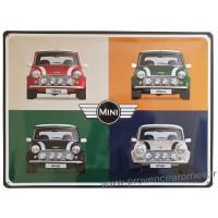 Plaque métal MINI Rouge verte noire blanche 40 x 30 cm déco rétro vintage