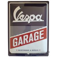 Plaque métal VESPA GARAGE 40 x 30 cm déco rétro vintage