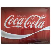 Plaque métal Coca Cola 40 x 30 cm déco rétro vintage