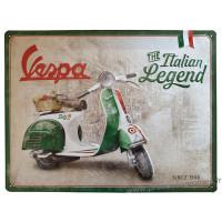 Plaque métal VESPA The Italian Legend 40 x 30 cm déco rétro vintage
