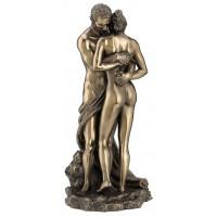 Statuette LES AMANTS 27 cm effet bronze
