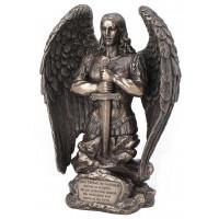 Statuette ARCHANGE SAINT MICHEL 22 cm effet bronze