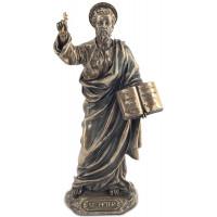Statuette SAINT PIERRE 21 cm effet bronze
