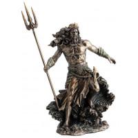 Statuette POSEIDON 31 cm effet bronze