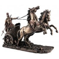 Statuette CHAR ROMAIN 25 cm effet bronze