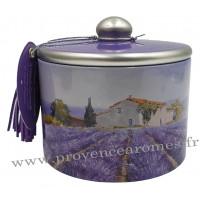 Boîte de bonbons à la lavande fine de Provence déco Mas Provençal Esprit Provence