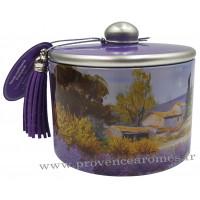 Boîte de bonbons à la lavande fine de Provence déco Paysage Provençal Esprit Provence