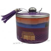 Boîte de bonbons à la lavande fine de Provence déco Couché de Soleil Esprit Provence
