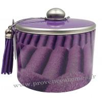 Boîte de bonbons à la lavande fine de Provence déco Rang de lavande Esprit Provence