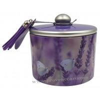 Boîte de bonbons à la lavande fine de Provence déco Papillons Lavande Esprit Provence