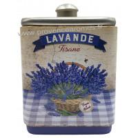 Lavande tisane de Provence Boîte empilable déco rétro Esprit Provence