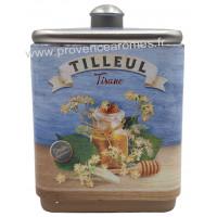 Tilleul tisane de Provence Boîte empilable déco rétro Esprit Provence