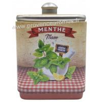 Menthe tisane de Provence Boîte empilable déco rétro Esprit Provence