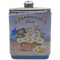 Camomille tisane de Provence Boîte empilable déco rétro Esprit Provence