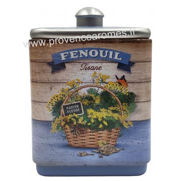 Fenouil tisane de Provence Boîte empilable déco rétro Esprit Provence