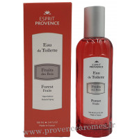 Eau de toilette FRUITS DES BOIS 100 ml Esprit Provence
