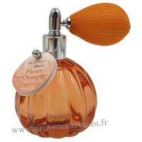 Eau de toilette FLEUR D'ORANGER 60 ml flacon facettes rétro avec poire Esprit Provence