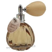 Eau de toilette JASMIN BLANC 60 ml flacon facettes rétro avec poire Esprit Provence