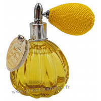 Eau de toilette MIMOSA EN FLEURS 60 ml flacon facettes rétro avec poire Esprit Provence