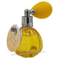Eau de toilette MIMOSA EN FLEURS 12 ml flacon facettes rétro avec poire Esprit Provence