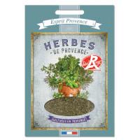Herbes de Provence pochette déco rétro Esprit Provence