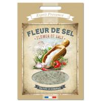 Fleur de Sel de Camargue 60 gr Recharge pour Boîte saupoudreur déco rétro Esprit Provence