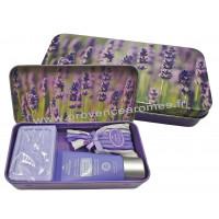 Boîte savon crème mains sachet de lavande déco Brins de lavande Esprit Provence