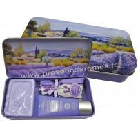 Boîte savon crème mains sachet de lavande déco Paysage Provençale Esprit Provence