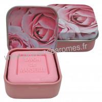 Boîte et savon d'invité Rose déco roses Esprit Provence