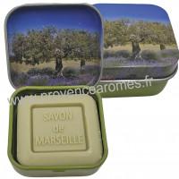 Boîte et savon d'invité Olive déco Olivier Esprit Provence