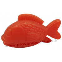 Savon en forme de poisson orange