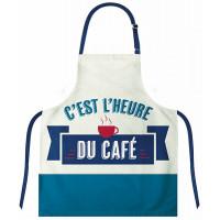 Tablier adulte C'EST L'HEURE DU CAFÉ