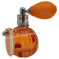 Eau de toilette FLEUR D'ORANGER 12 ml flacon facettes rétro avec poire Esprit Provence