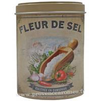 Fleur de Sel de Camargue Boîte saupoudreur déco rétro Esprit Provence