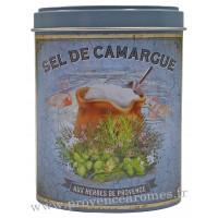 Sel de Camargue aux Herbes de Provence Boîte saupoudreur déco rétro Esprit Provence