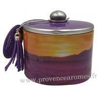 Boîte de bonbons à la lavande fine de Provence déco Sillons Couché de Soleil Esprit Provence