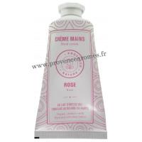 Crème mains Rose au LAIT D'ÂNESSE Bio 50 ml