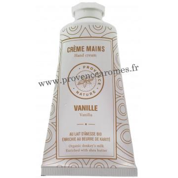 Crème mains Vanille au LAIT D'ÂNESSE Bio 50 ml