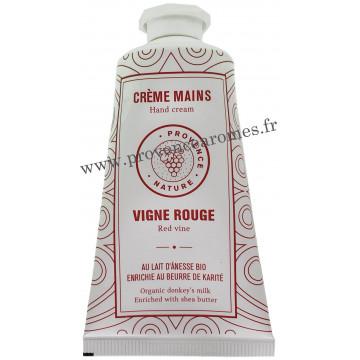 Crème mains VIGNE ROUGE et LAIT D'ÂNESSE Bio 50 ml