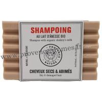 Shampoing Solide Cheveux secs et abîmés au lait d'ânesse BIO