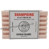 Shampoing Solide Cheveux colorés au lait d'ânesse BIO
