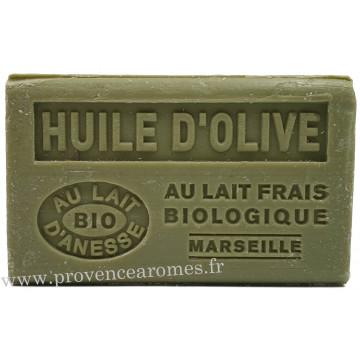 Savon Huile d'olive et lait d'ânesse frais Bio 125 gr