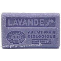 Savon Lavande au lait d'ânesse frais Bio 125 gr