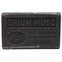 Savon Opium musc au lait d'ânesse frais Bio 125 gr