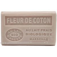 Savon Fleur de coton au lait d'ânesse frais Bio 125 gr