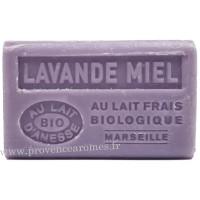 Savon Lavande Miel au lait d'ânesse frais Bio 125 gr