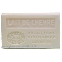 Savon Lait de chèvre au lait d'ânesse frais Bio 125 gr