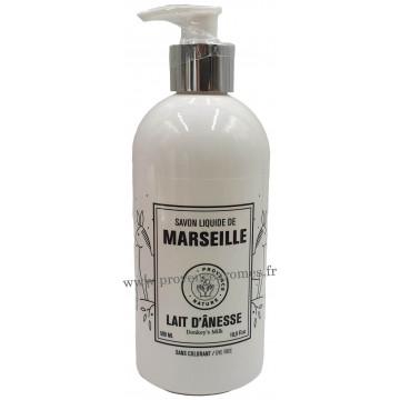 Savon liquide de Marseille au lait d'ânesse Bio flacon pompe 500 ml