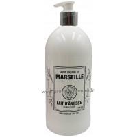 Savon liquide de Marseille au lait d'ânesse Bio flacon pompe 1 litre